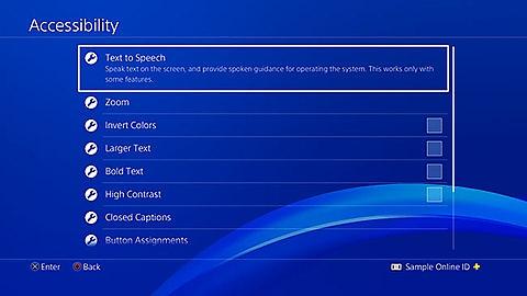 Accessibilità su PS4