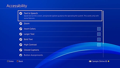 Acessibilidade da PS4