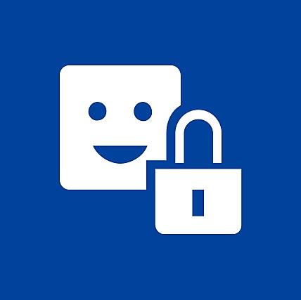 Ícono cliqueable de cuenta y seguridad