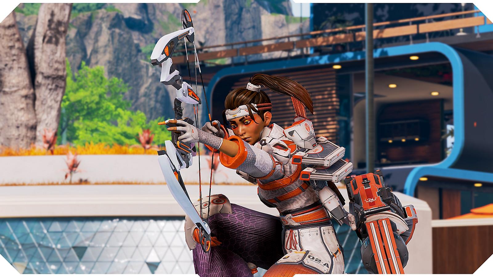 Apex Legends screenshot of Legend crouching