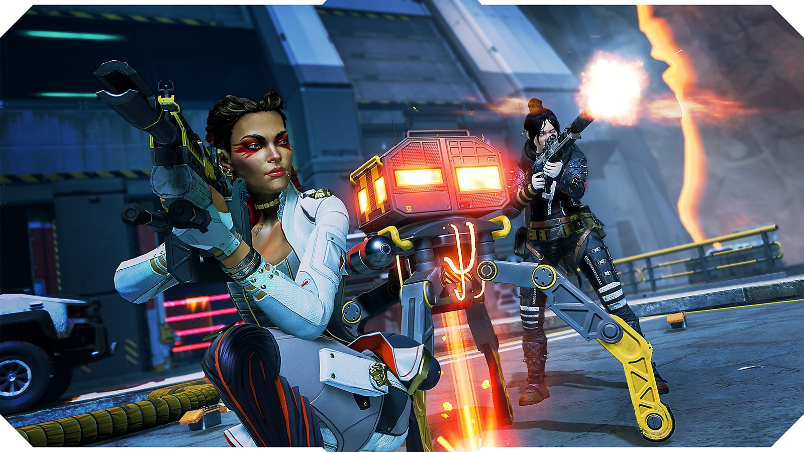 Apex Legends screenshot showing Loba and Wraith