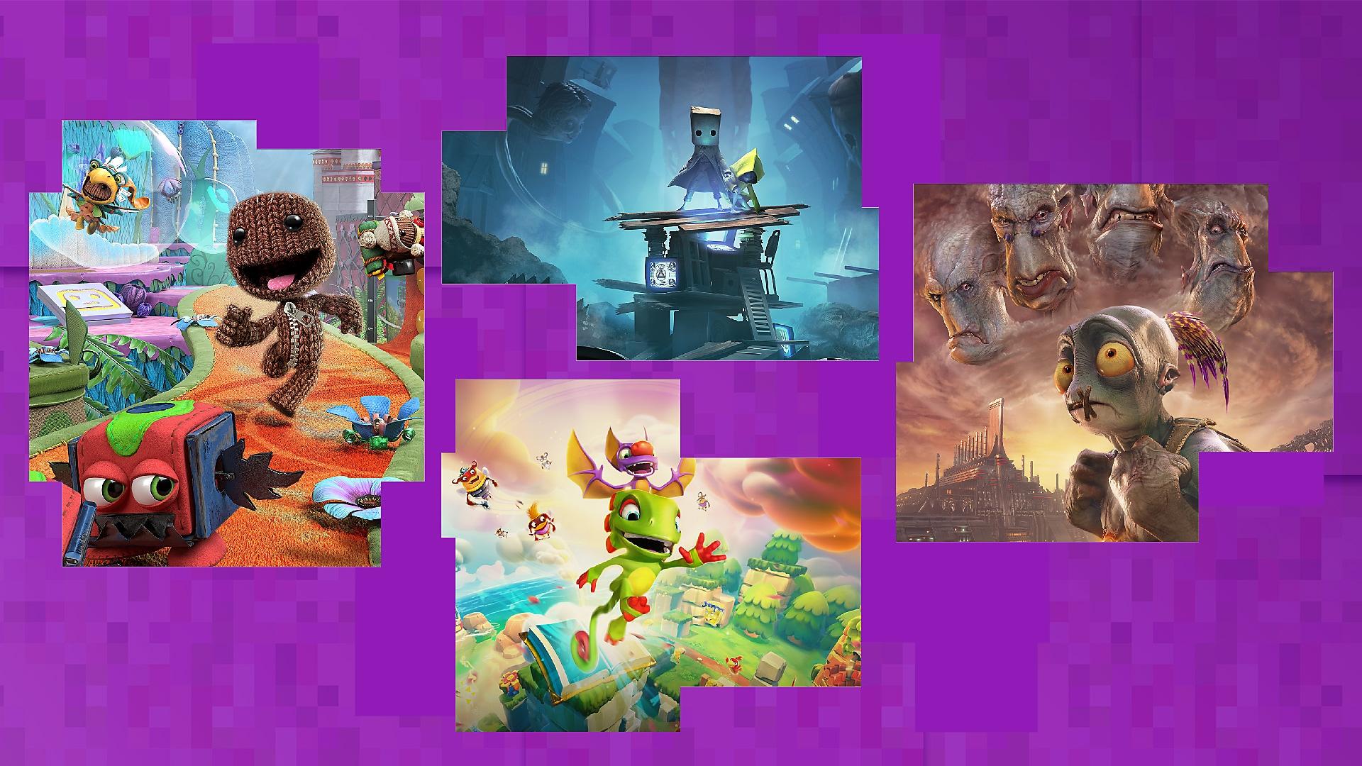 Best platformers on PS4 promotional key art