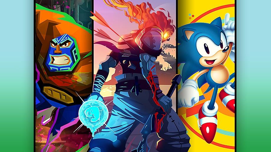 الصورة الفنية الترويجية لأفضل ألعاب المنصات على PS4
