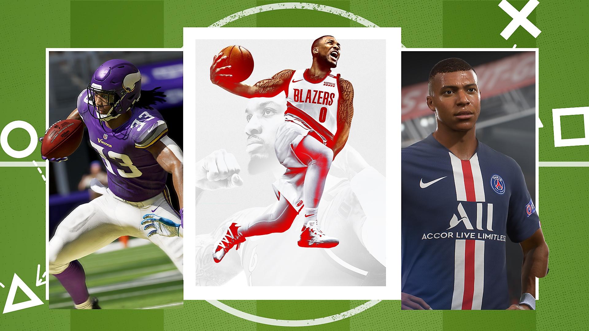 الصورة الفنية الترويجية لأفضل الألعاب الرياضية على PS4