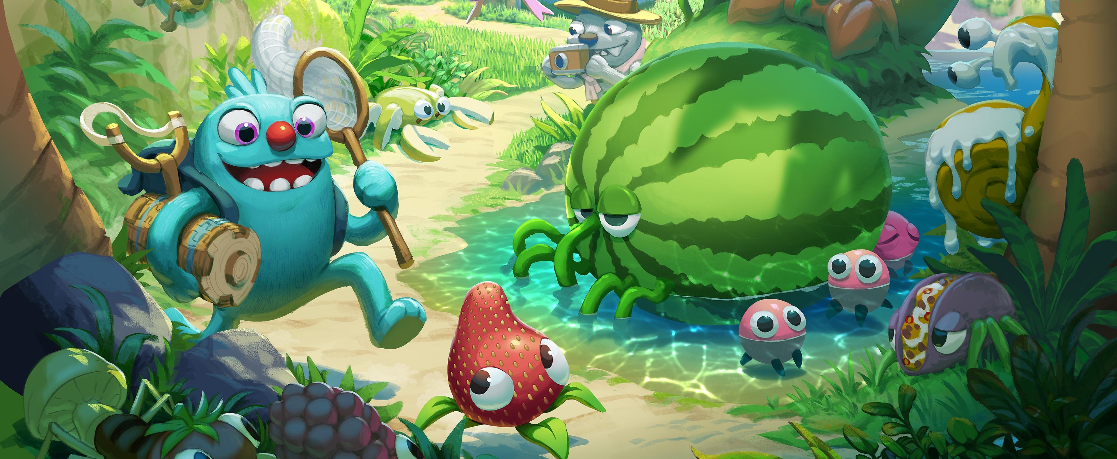 Posnetek junaka iz igre Bugsnax