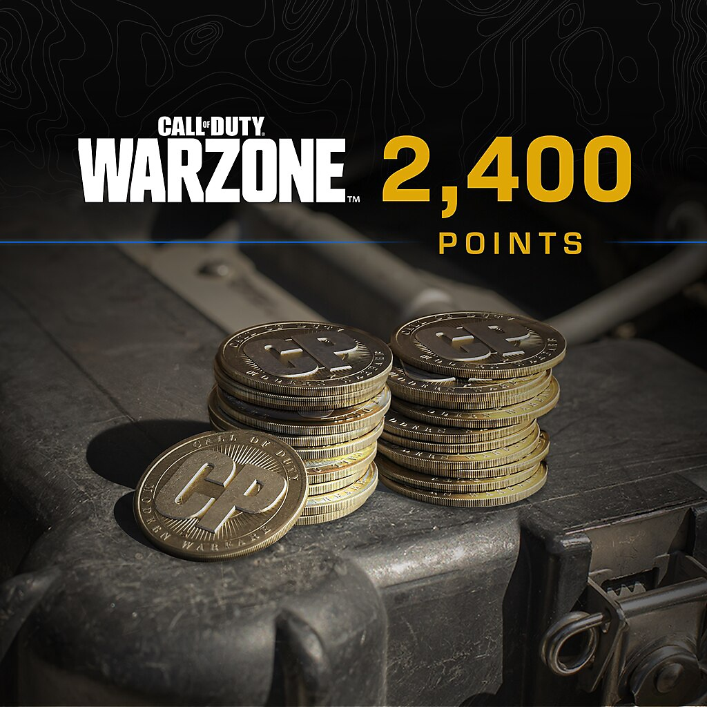 Call of Duty Warzone points 2400 packshot