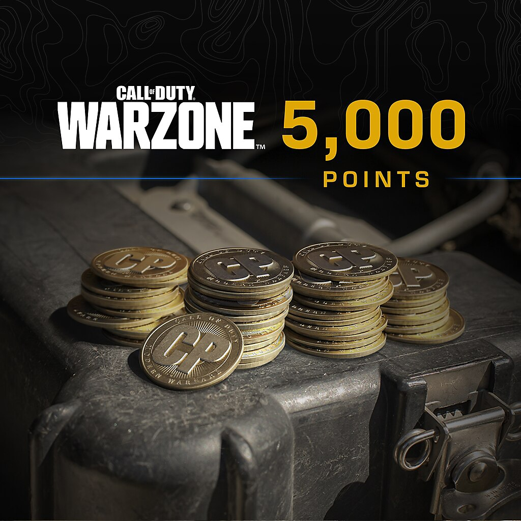 Call of Duty Warzone points 5000 packshot
