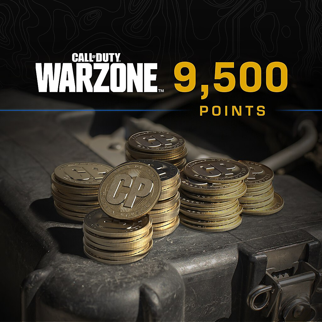 Call of Duty Warzone points 9500 packshot