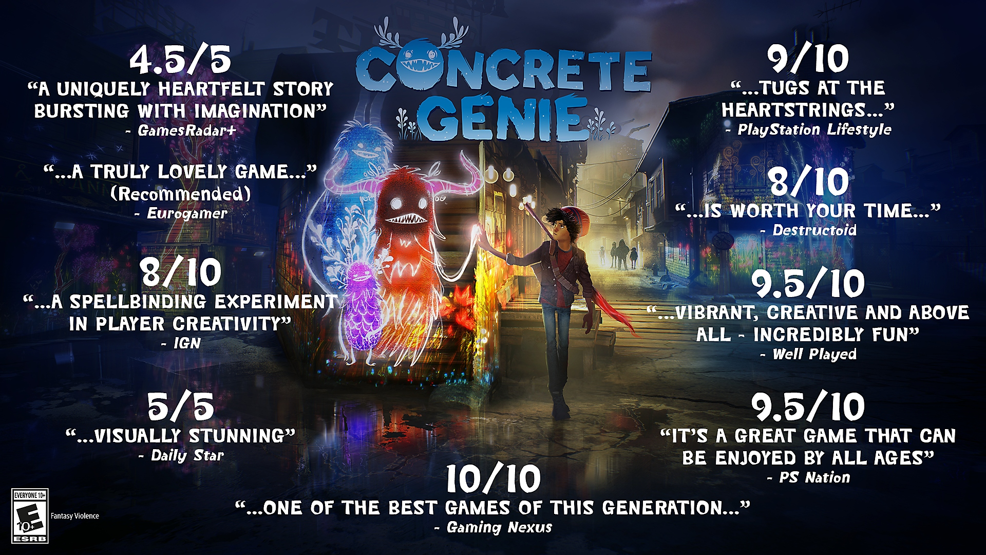 Concrete Genie - Accolades Trailer | PS4