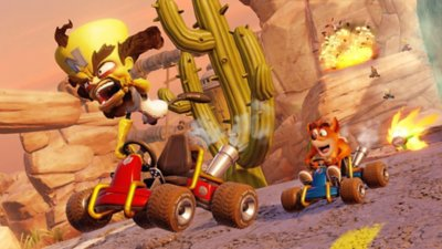 Dr. Neo Cortex und Crash Bandicoot