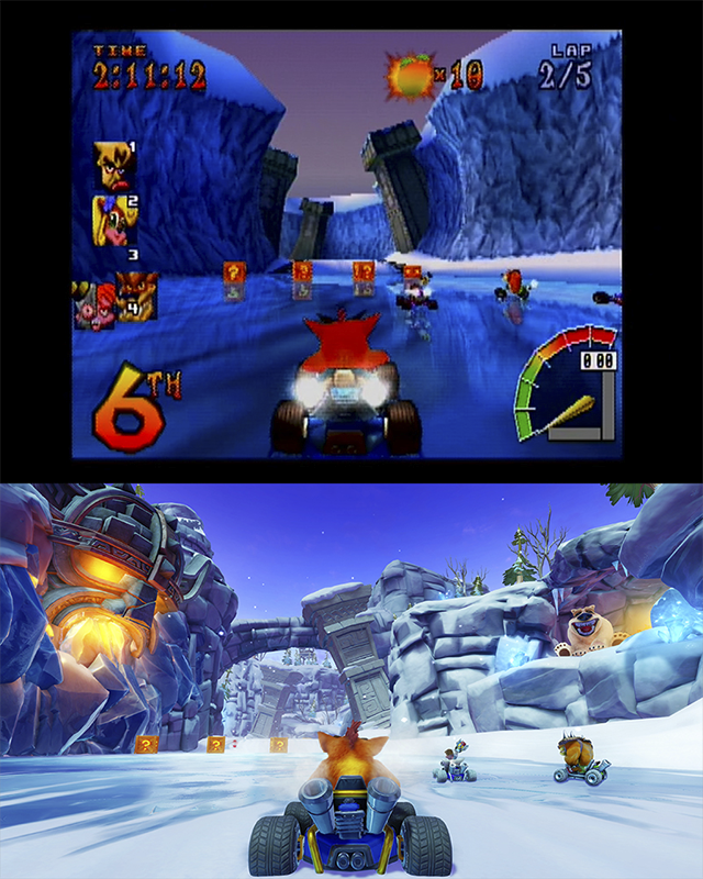Crash Team Racing Nitro-Fueled old/new
