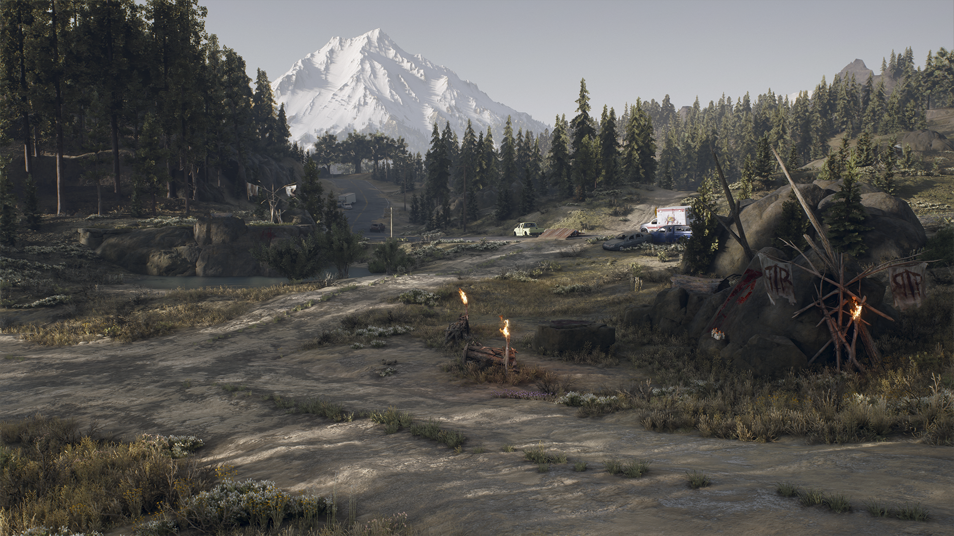 days gone fondo de captura de pantalla de pc