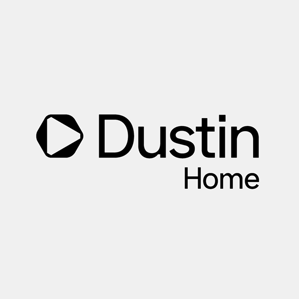 dustin home retailer logo