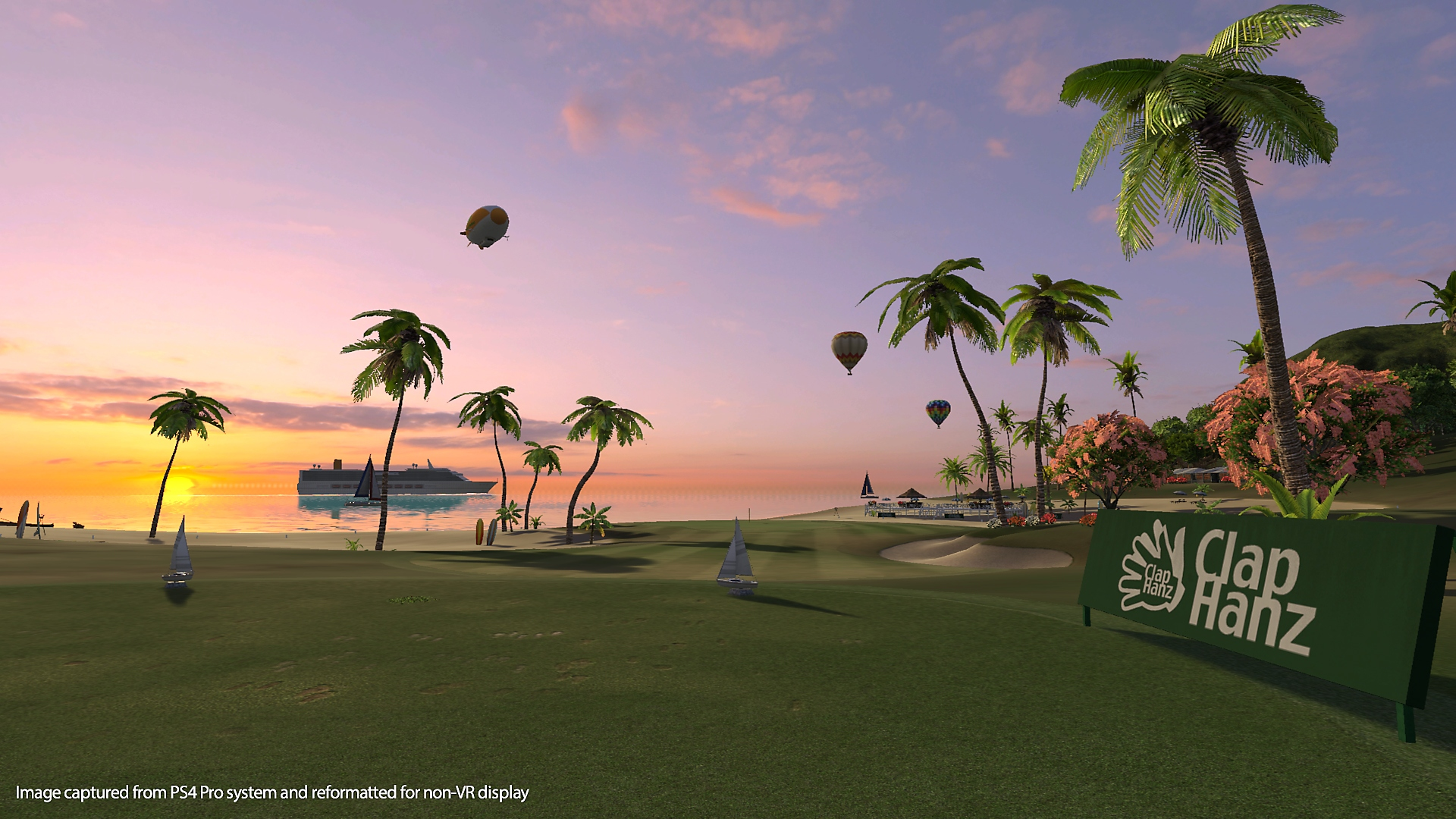 captura de pantalla de everybody's golf vr