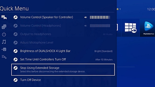 PS4 Stop Using Extended Storage