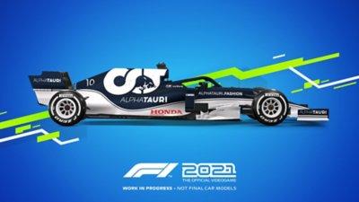 مظهر سيارات لعبة F1 2021 - Alpha Tauri