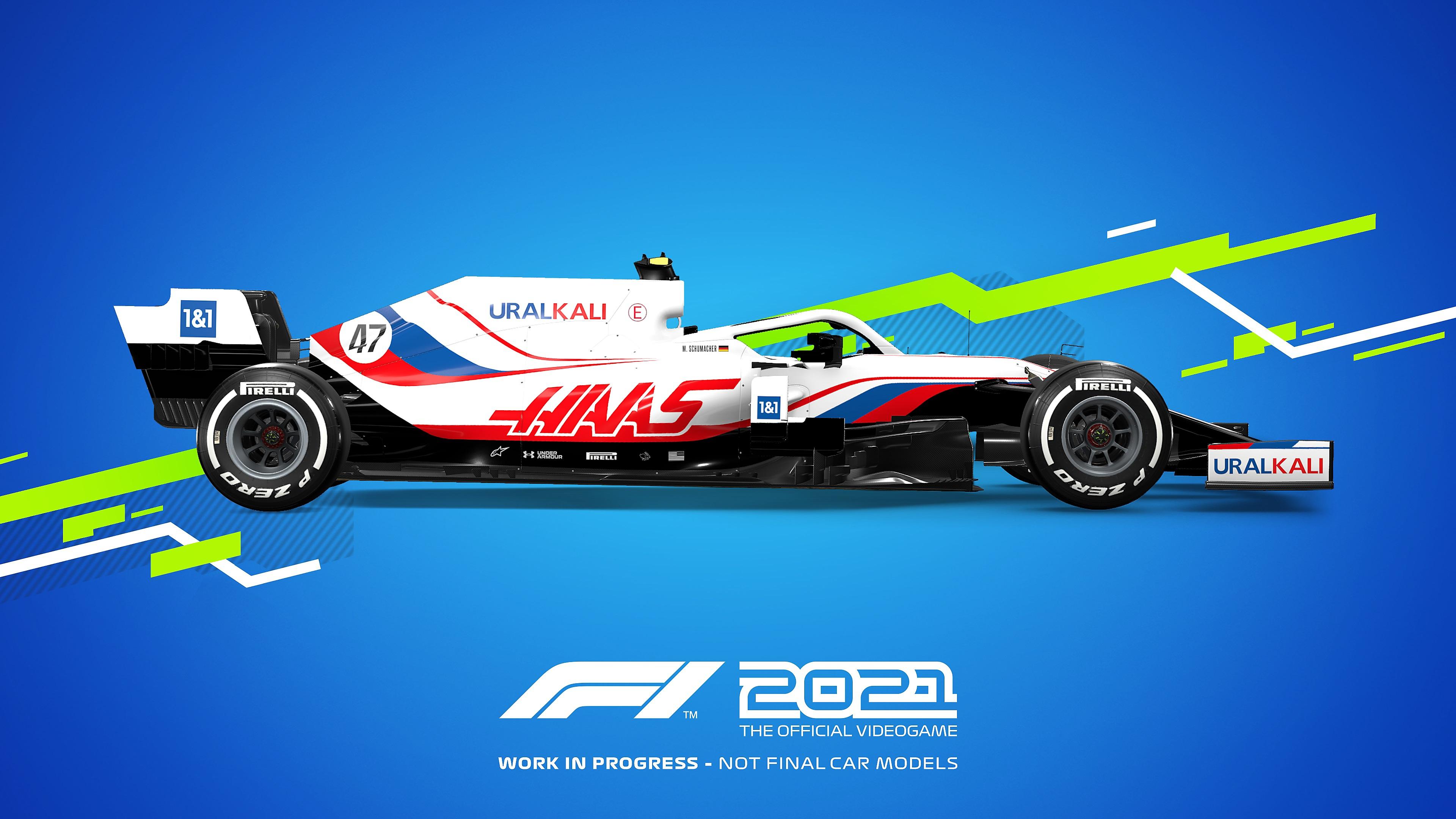 Colores distintivos de autos de juego F1 2021 - Haas