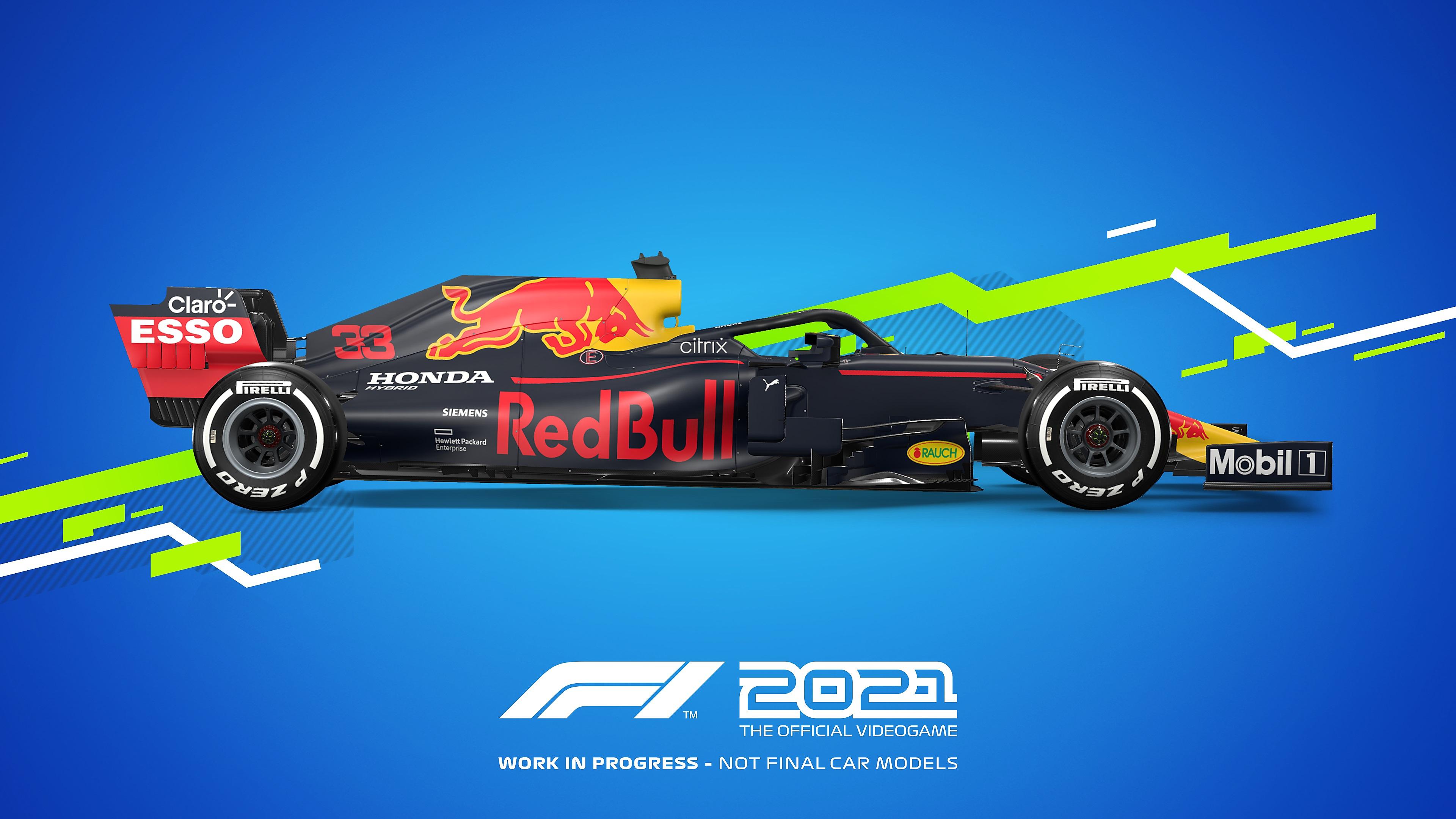 Colores distintivos de autos de juego F1 2021 - Red Bull