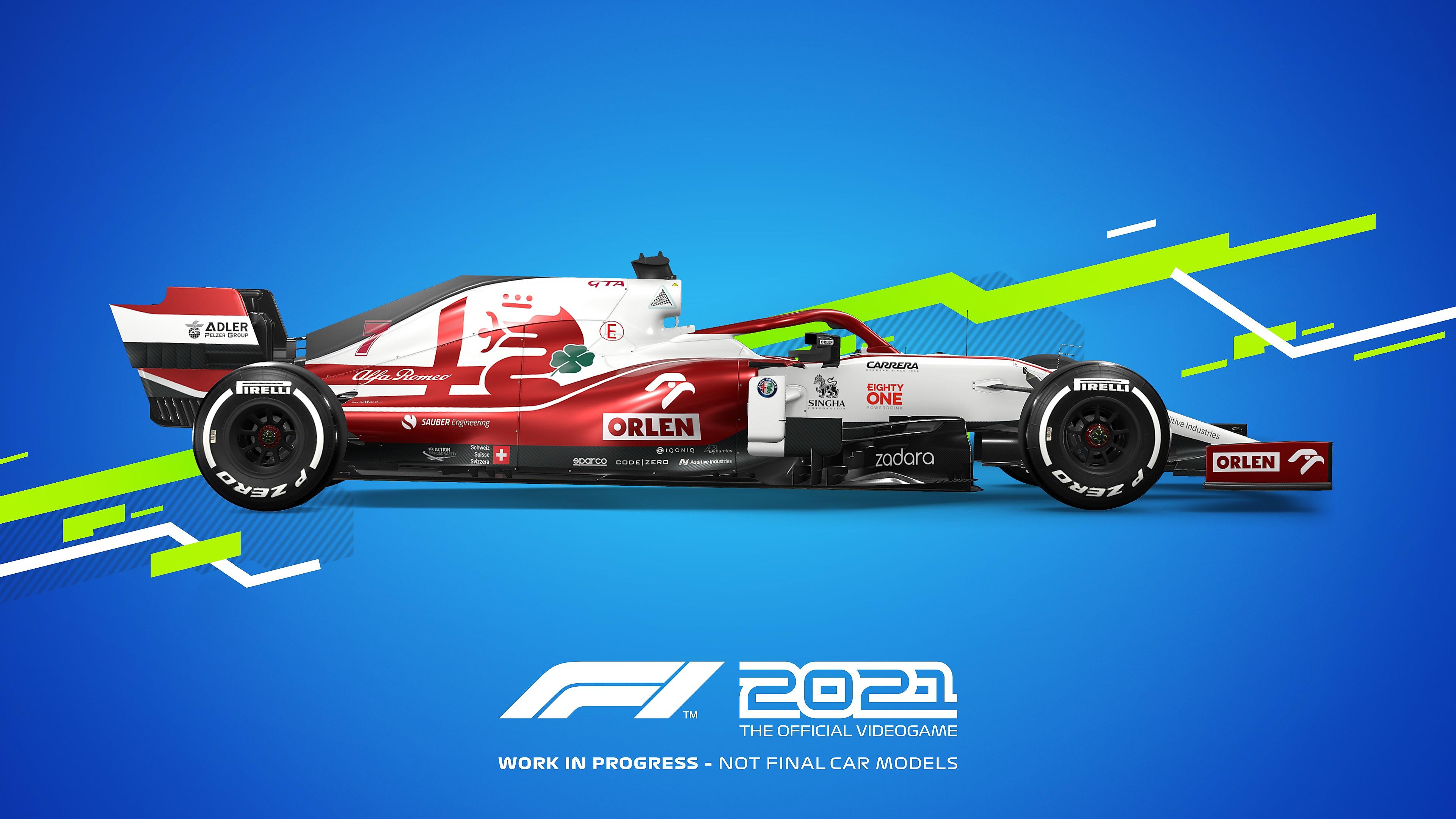 Colores distintivos de autos de juego F1 2021 - Alpha Romeo