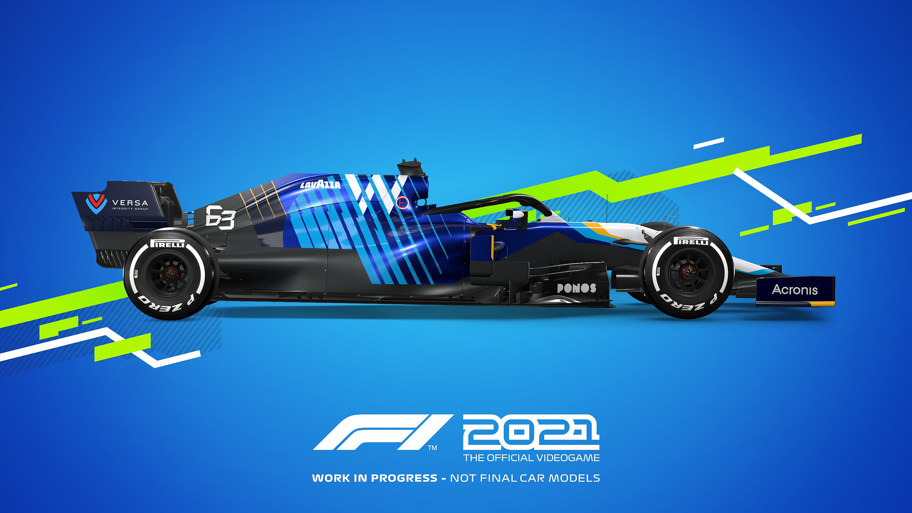 Colores distintivos de autos de juego F1 2021 - Williams