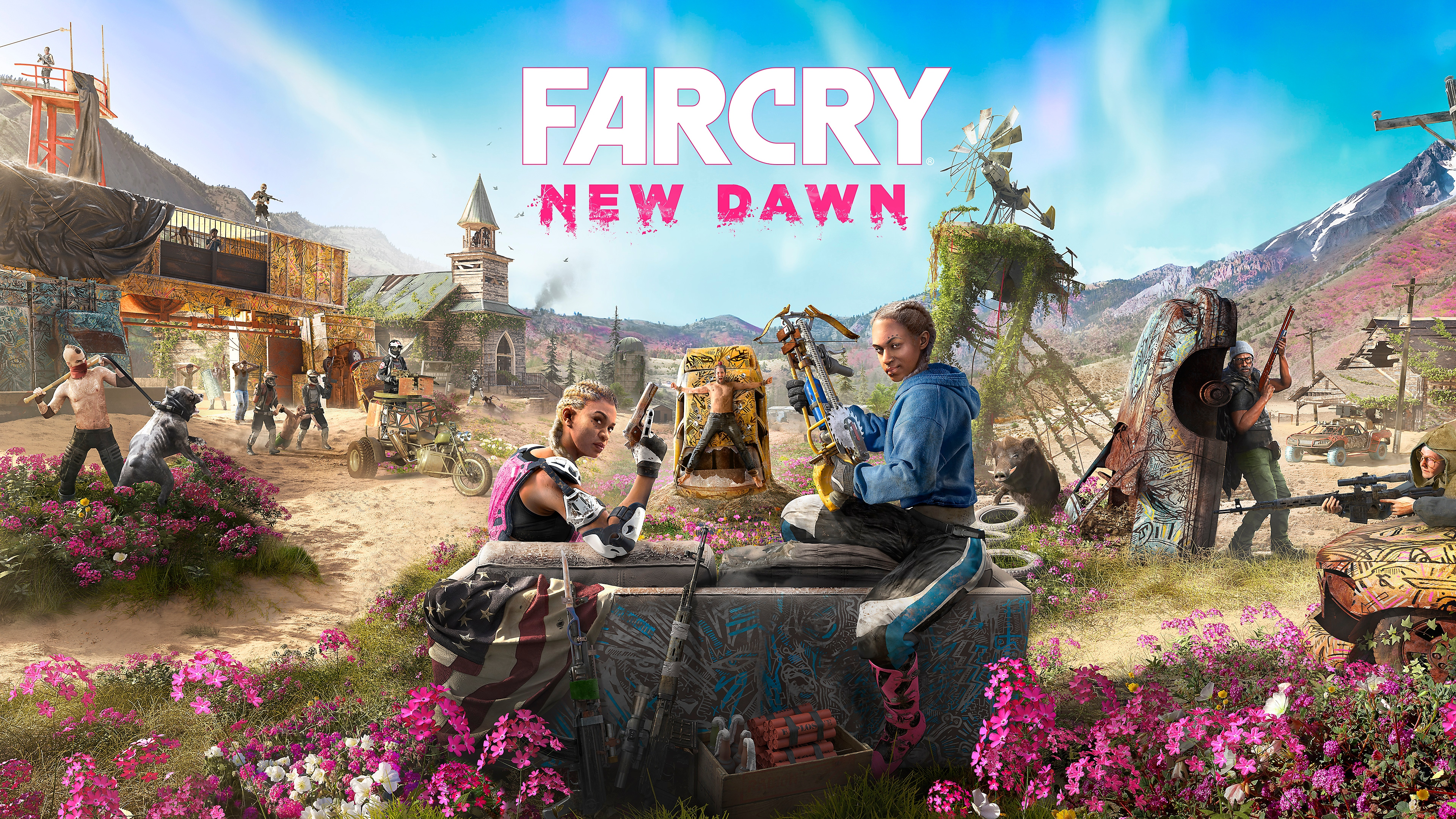 Far Cry New Dawn title desktop wallpaper