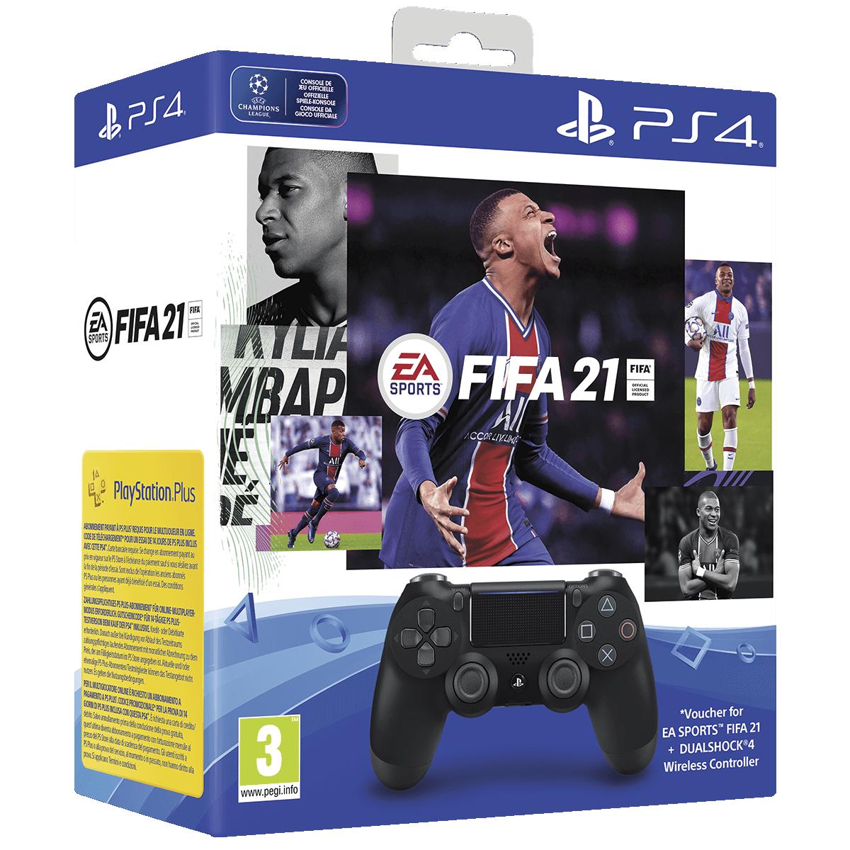 Bild av paket med FIFA 21 DS4