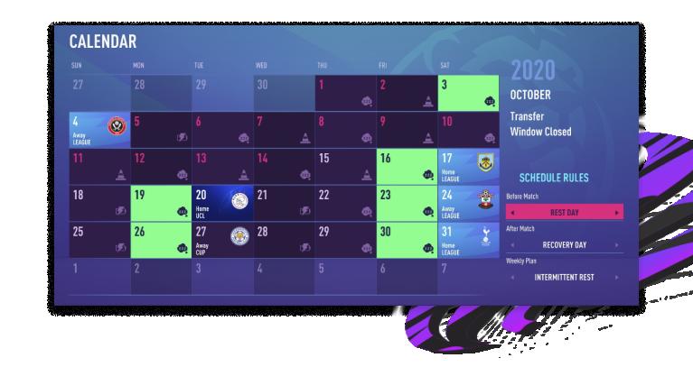 FIFA 21 – aktivitetsschema