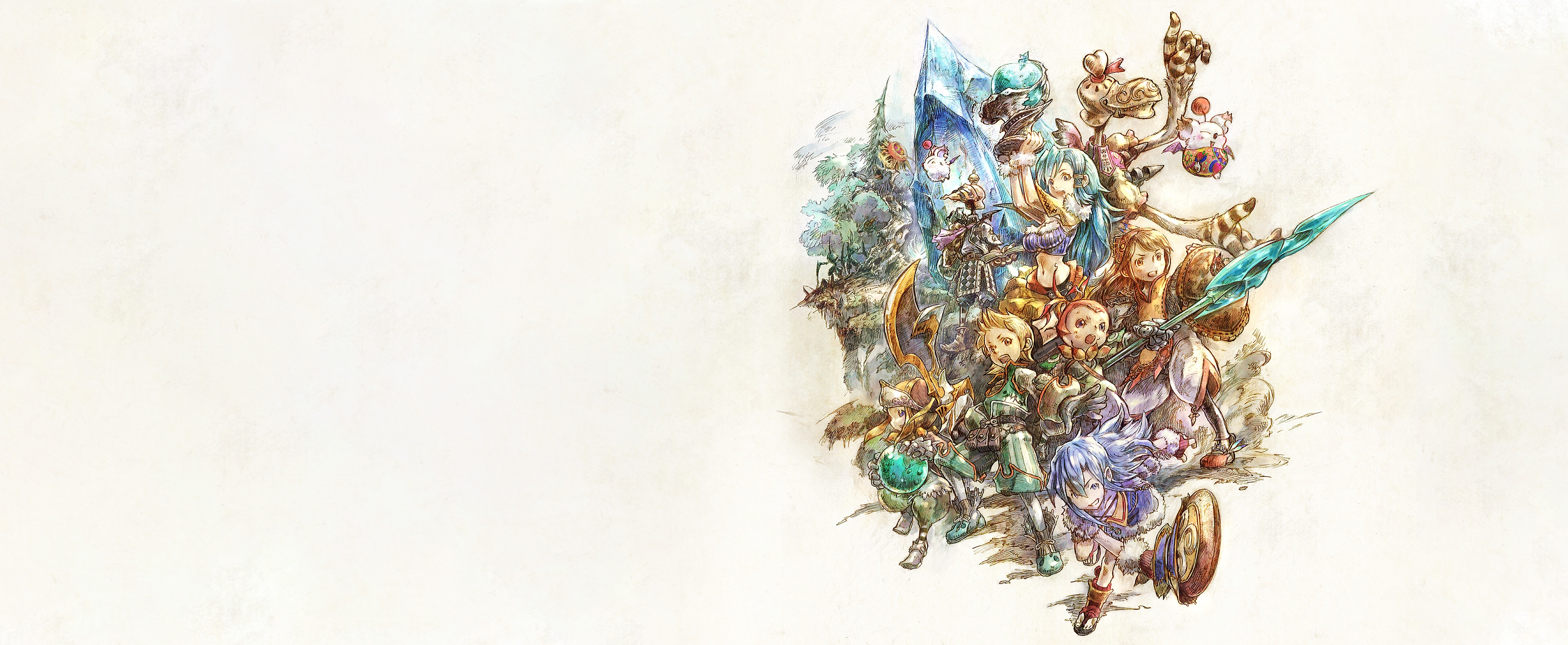 Final Fantasy Crystal Chronicles Remastered Edition glavni umjetnički elementi.