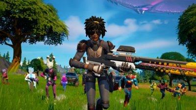 Fortnite - Battaglia reale - Screenshot dell'azione di gioco 2