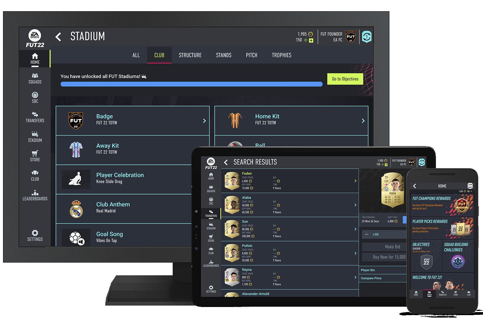 FIFA Ultimate Team - Image de l'application Companion