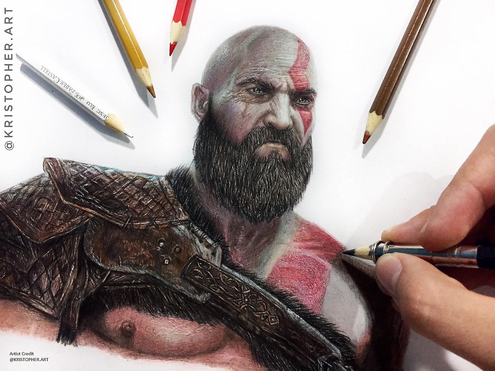 god of war fan art