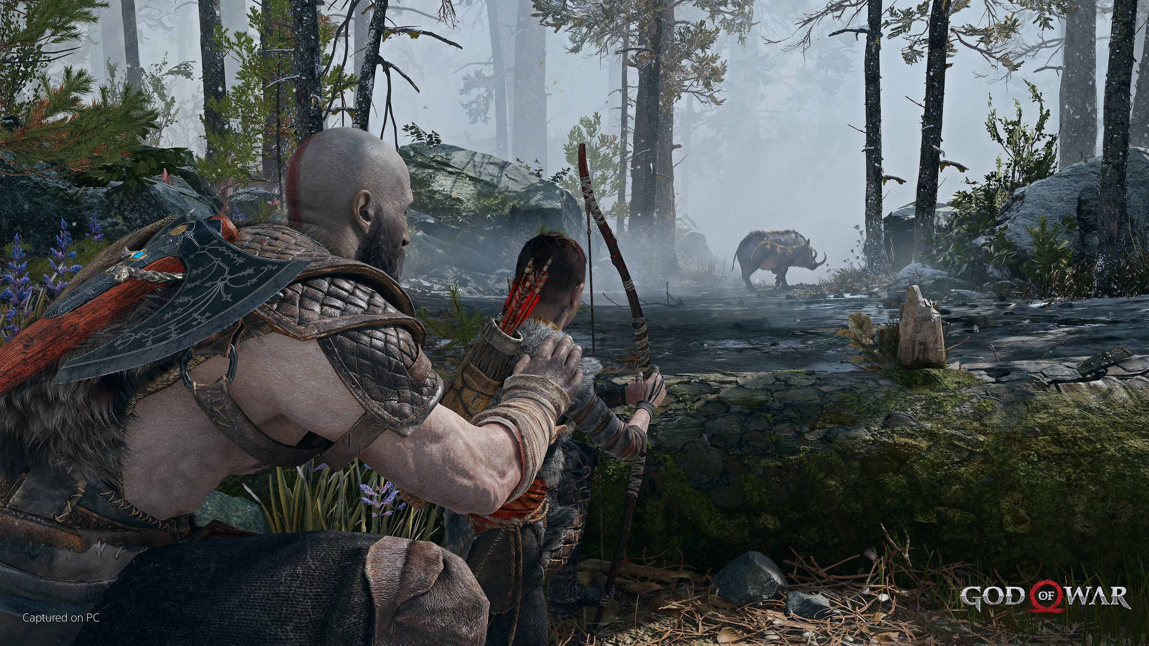 captura de pantalla de god of war para pc