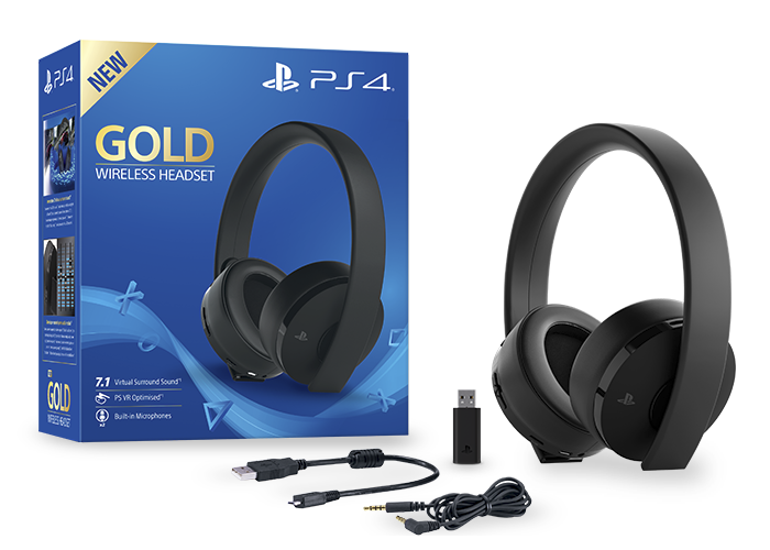 Gold wireless headset bundle