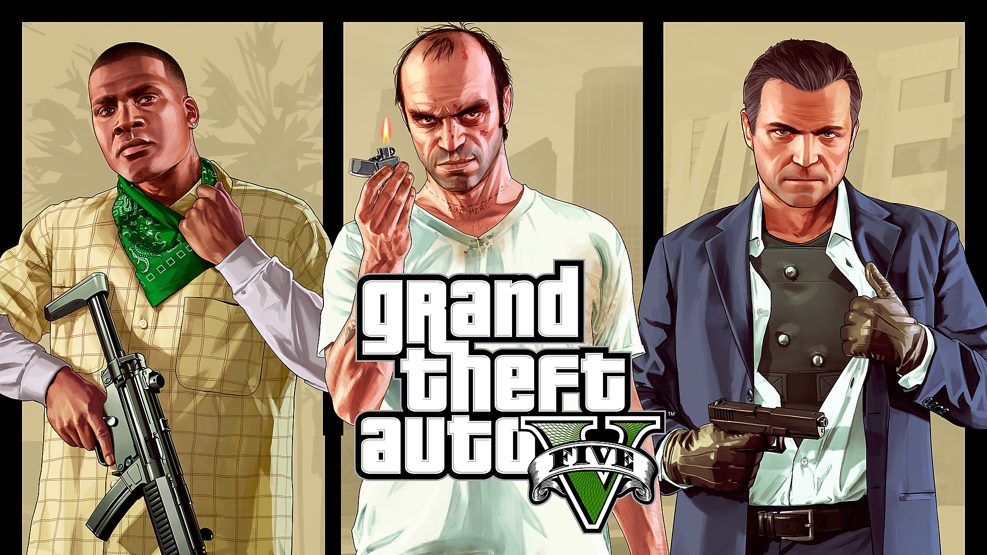 Grand Theft Auto V – key art