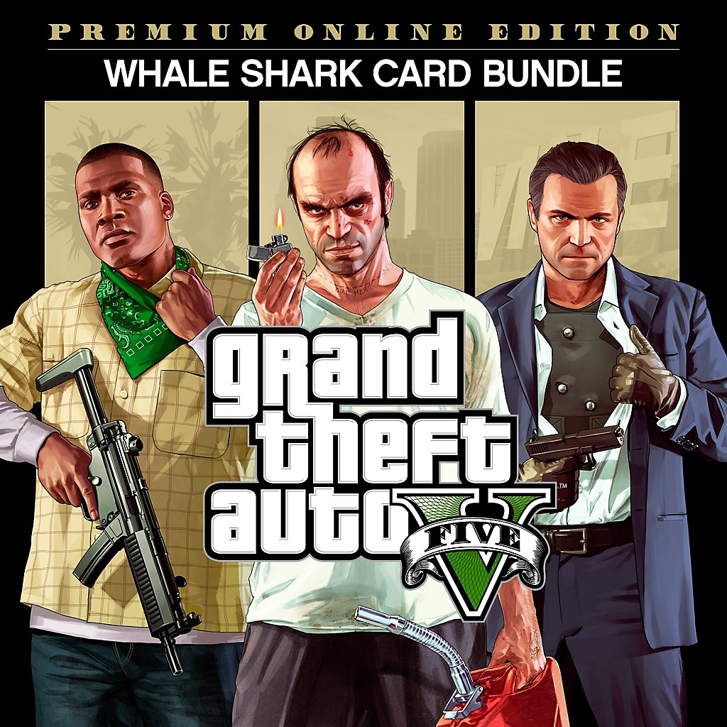 GTAV Premium Online Edition & Whale Shark Card Bundle - Store Art