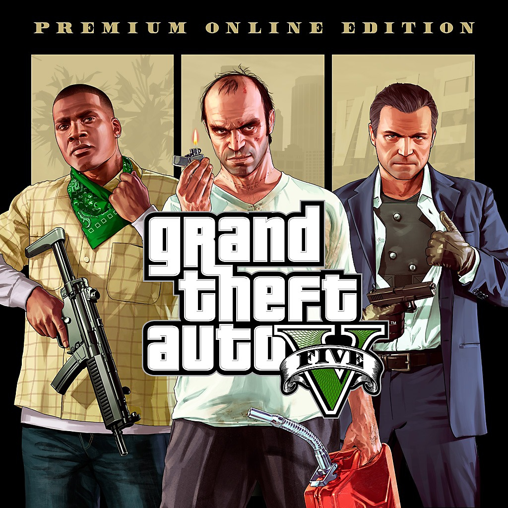Grand Theft Auto V - Premium Online Edition Store Art