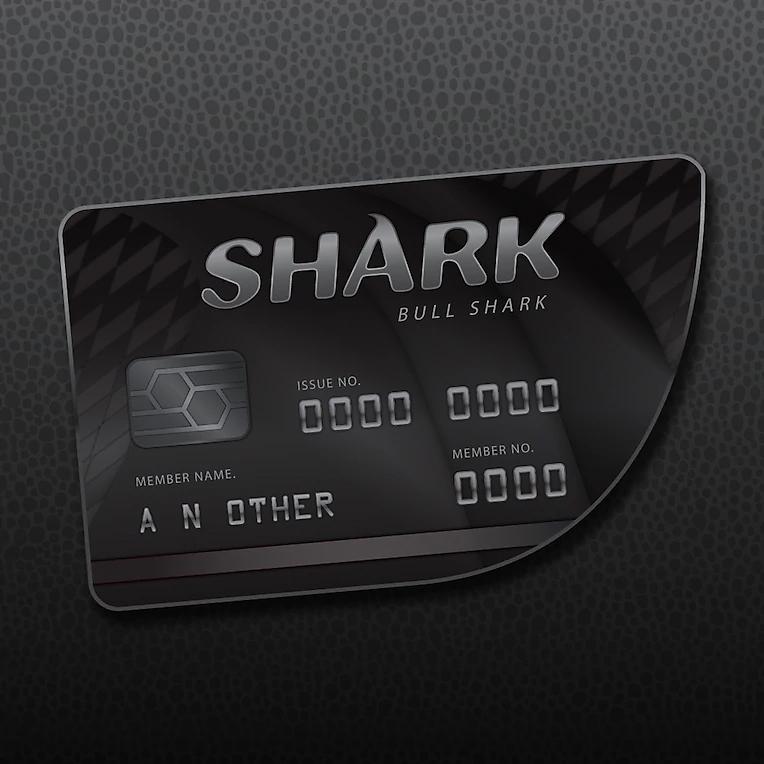Packshot de GTAV Online: Tarjeta de crédito tiburón toro