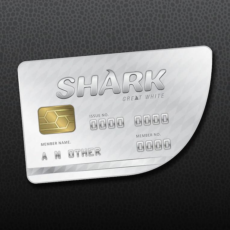 Packshot de GTAV Online: Tarjeta de crédito gran tiburón blanco