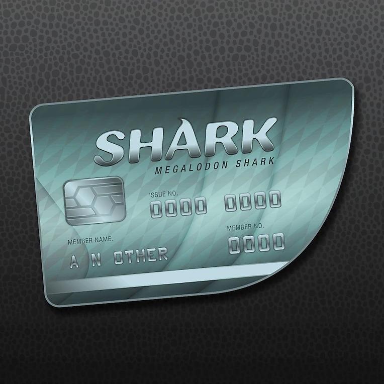Packshot de GTAV Online: Tarjeta de crédito tiburón megalodón