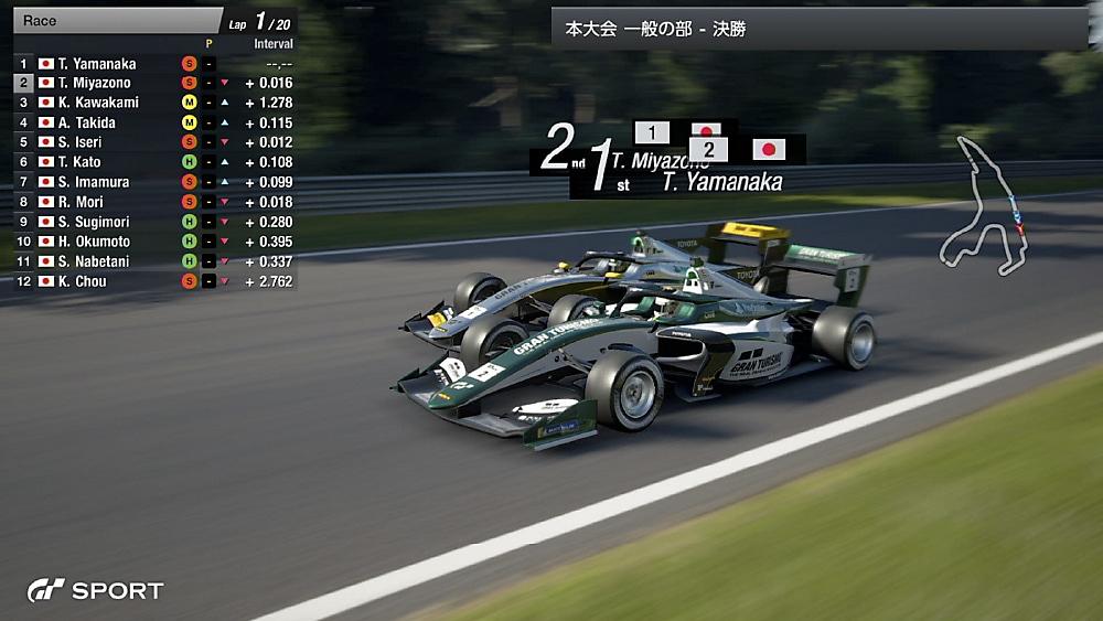 2020 本大会レース画面