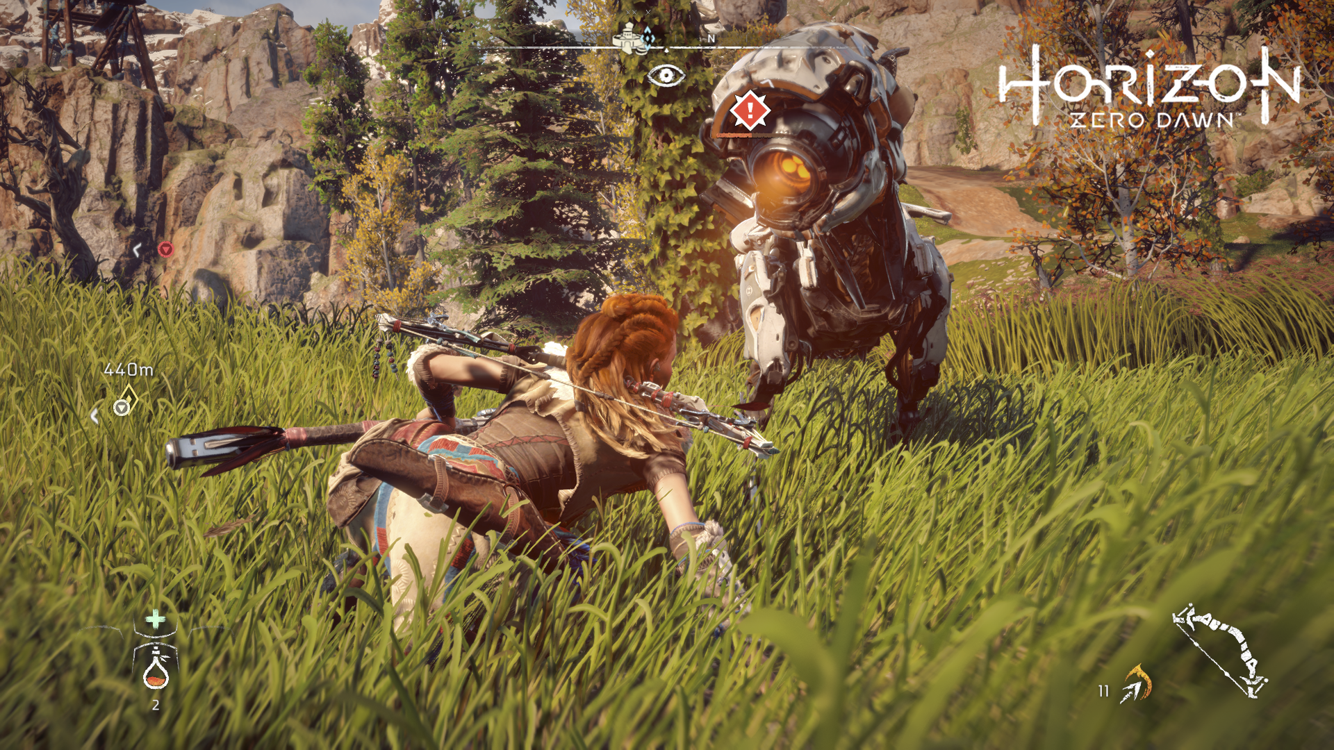 capture d'écran horizon zero dawn