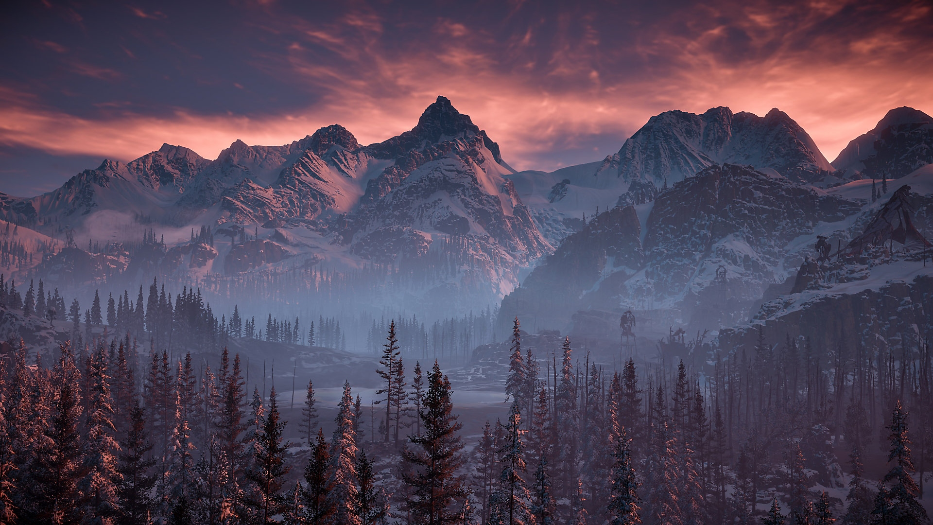 horizon zero dawn the frozen wilds background