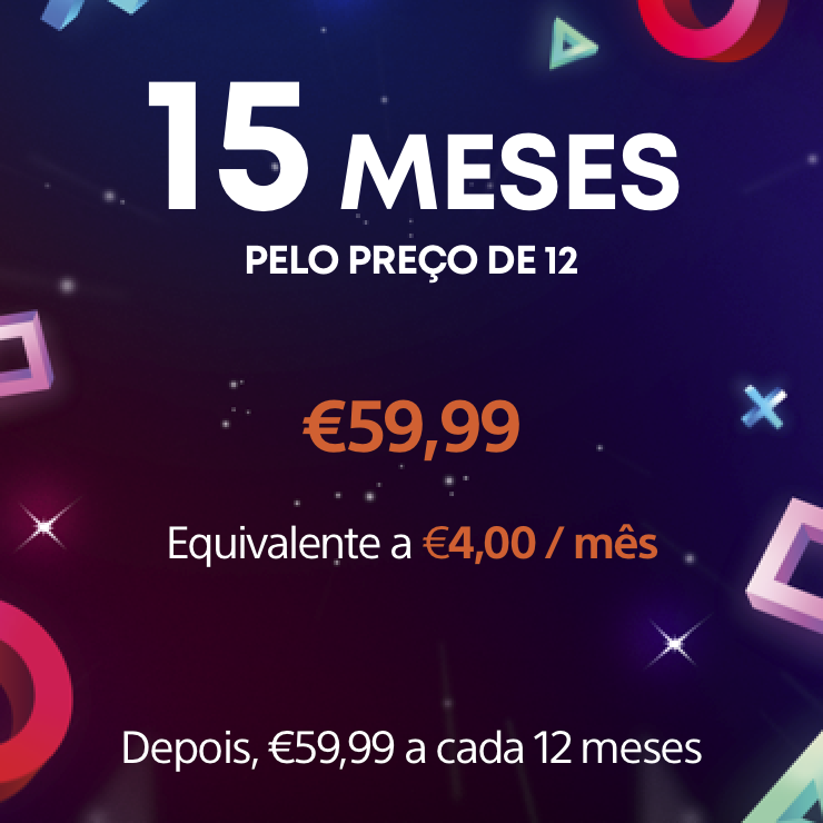 Subscrição de 12 meses do PS Now