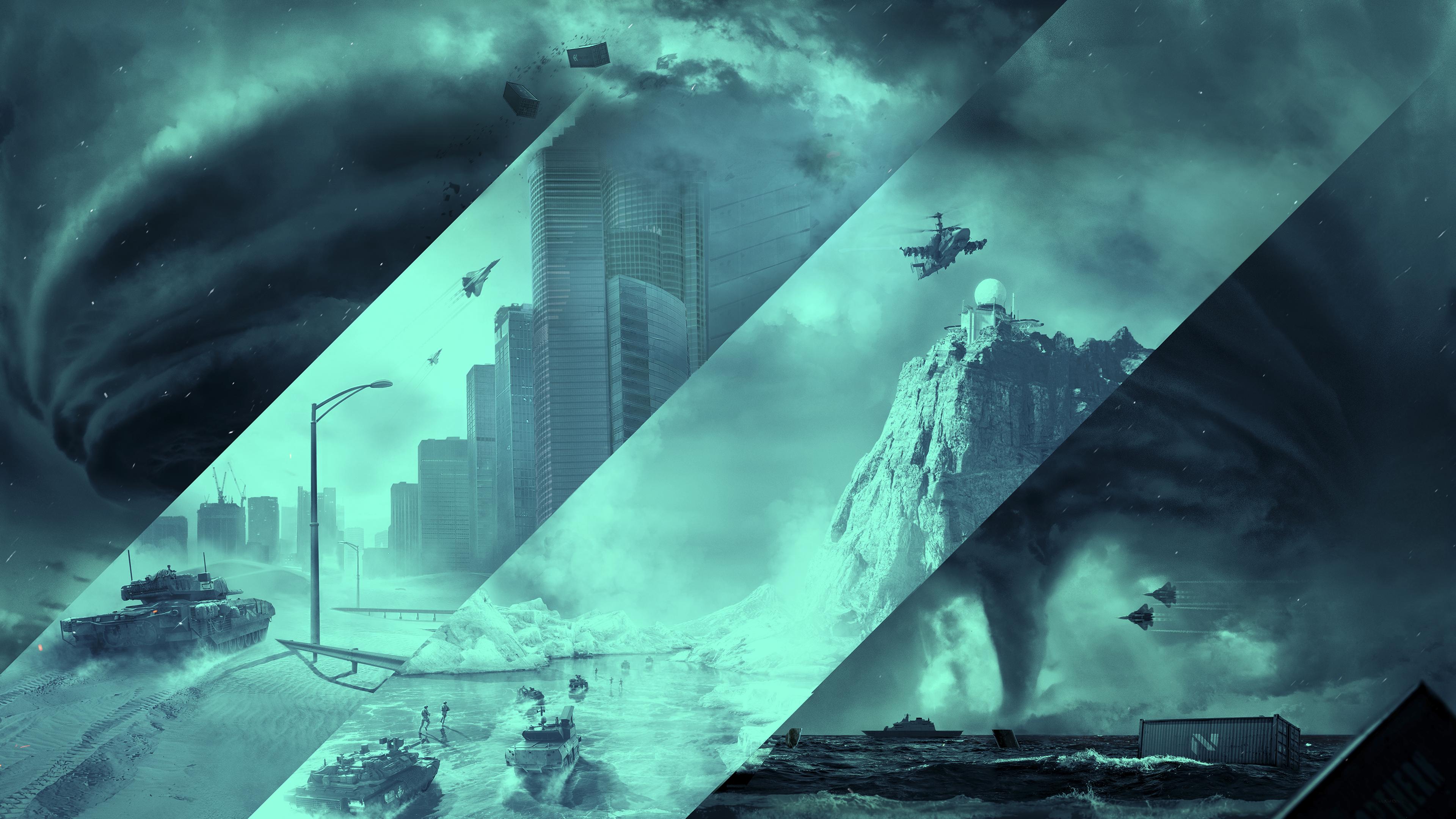 Grafica sfondo di Battlefield 2042