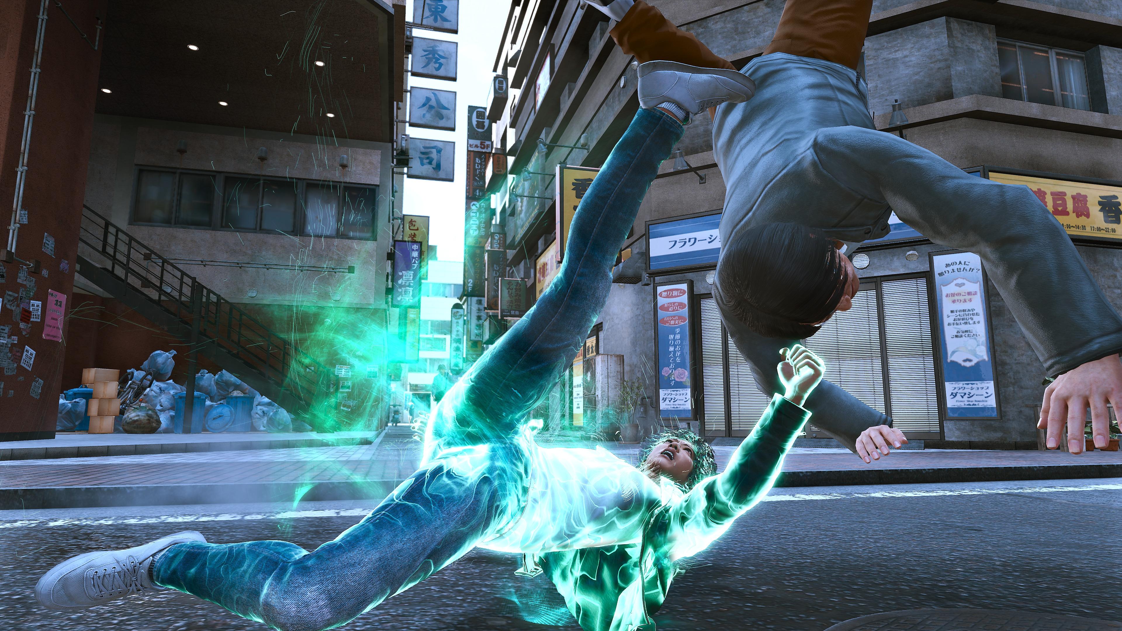 Lost Judgment - Combat libre - Capture d'écran des éléments principaux