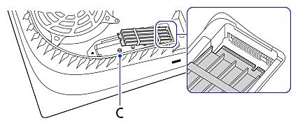 Lijn de M.2 SSD uit met de inkeping op de uitbreidingsconnector en schuif hem er goed in