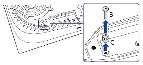 Verwijder de schroef en spacer uit de uitbreidingssleuf en pas deze aan de grootte van je M.2 SSD aan