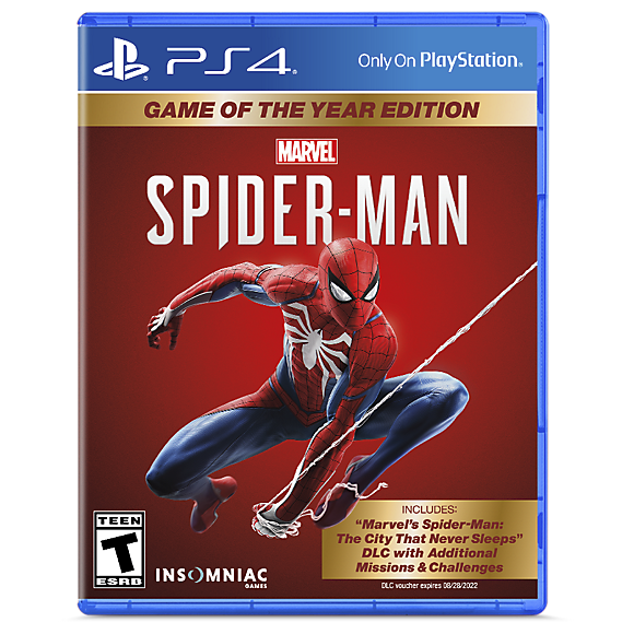 Marvel's Spider-Man: Game of The Year Edition blu ray