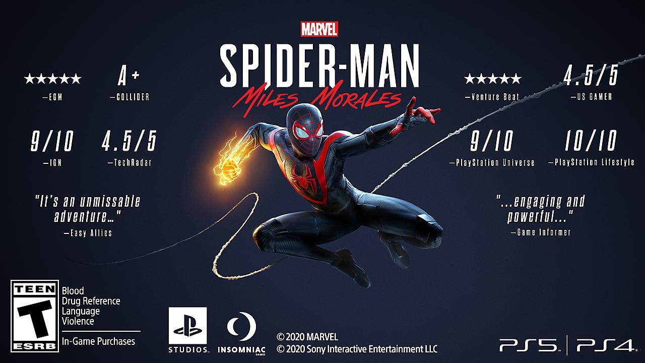 marvel's spider-man miles morales accolades