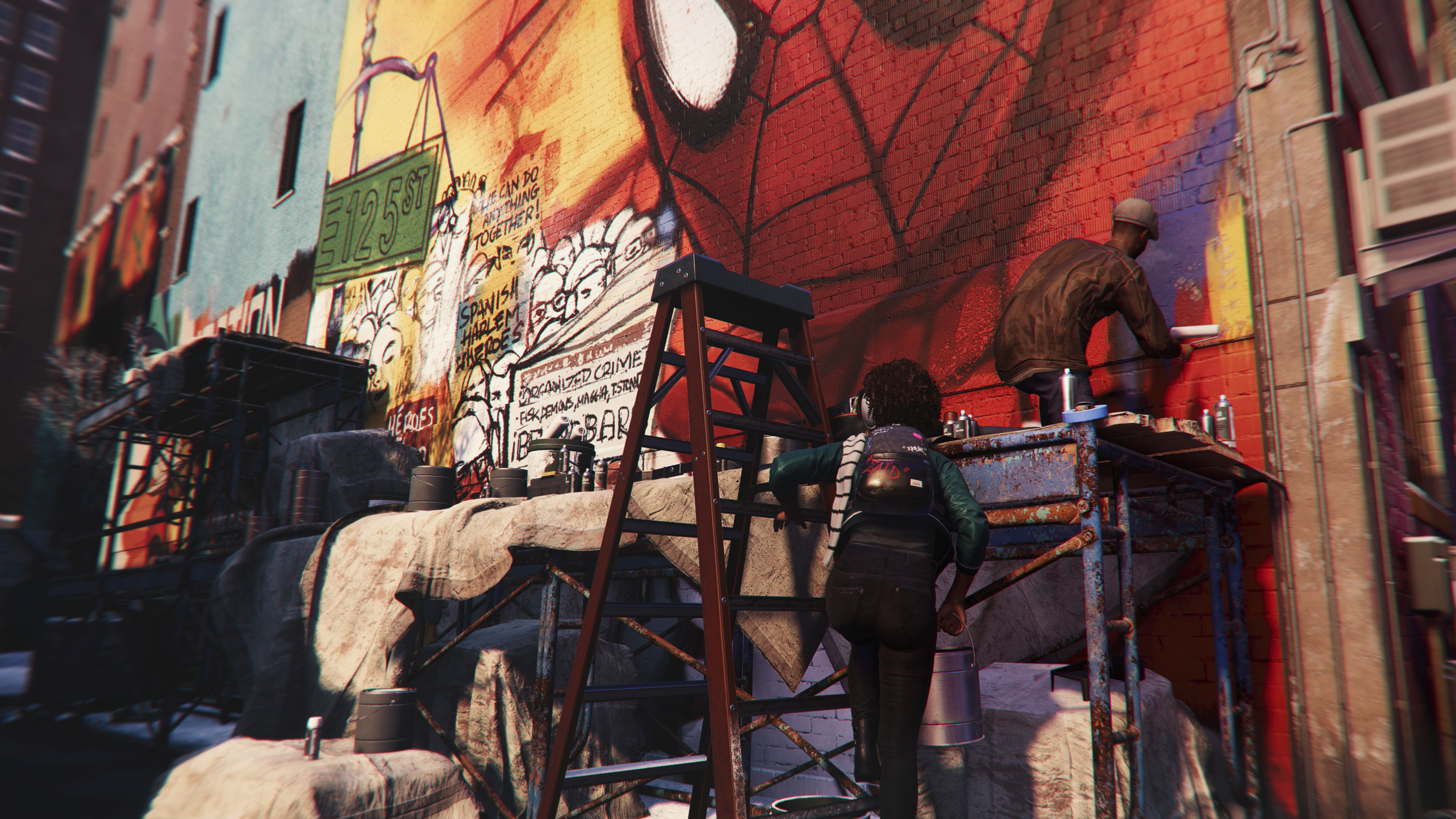 "marvel's spider-man milesmorales ""mural musings"" daily bugle screenshot"